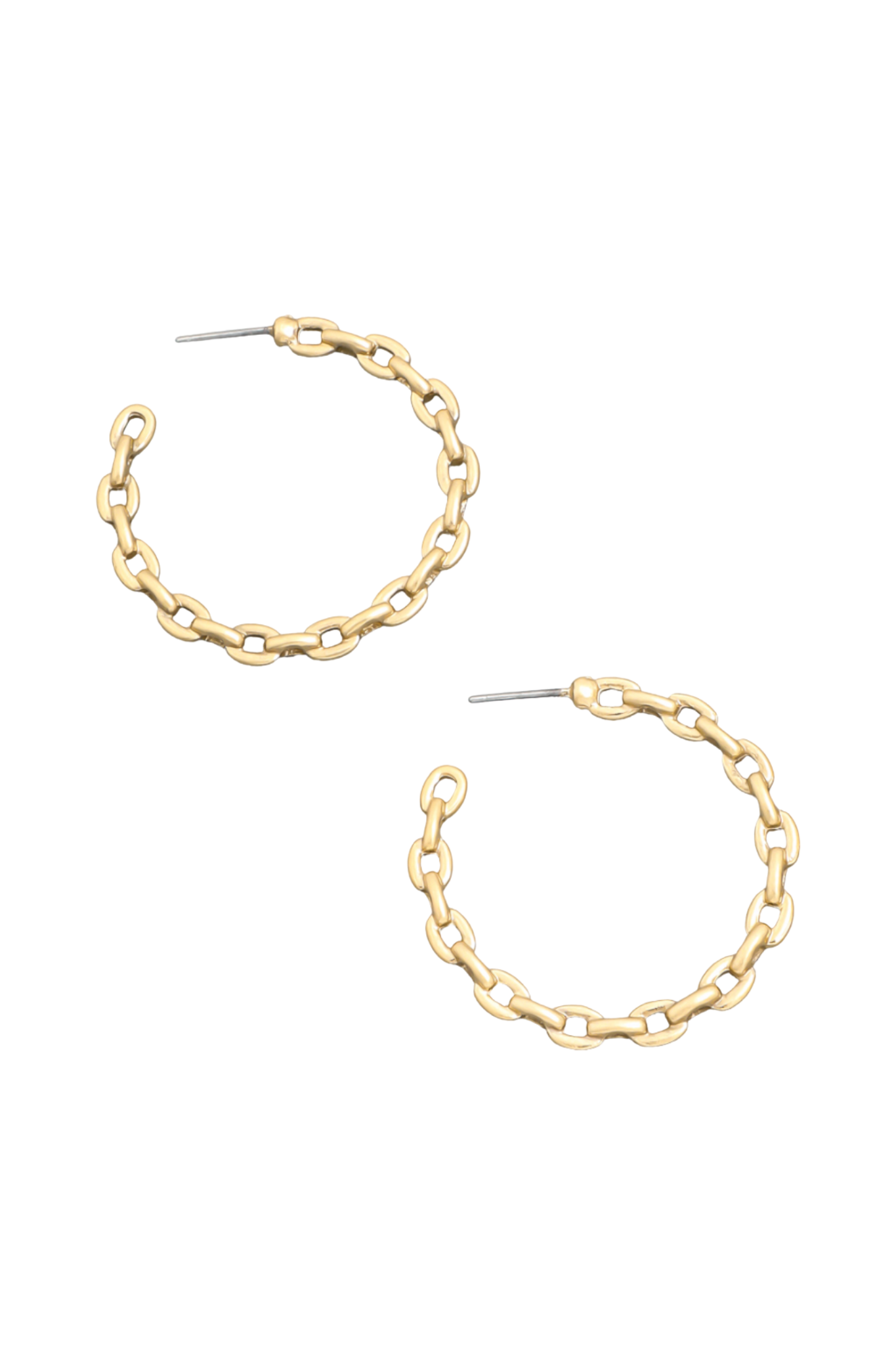 Matte Chain Hoop Earrings