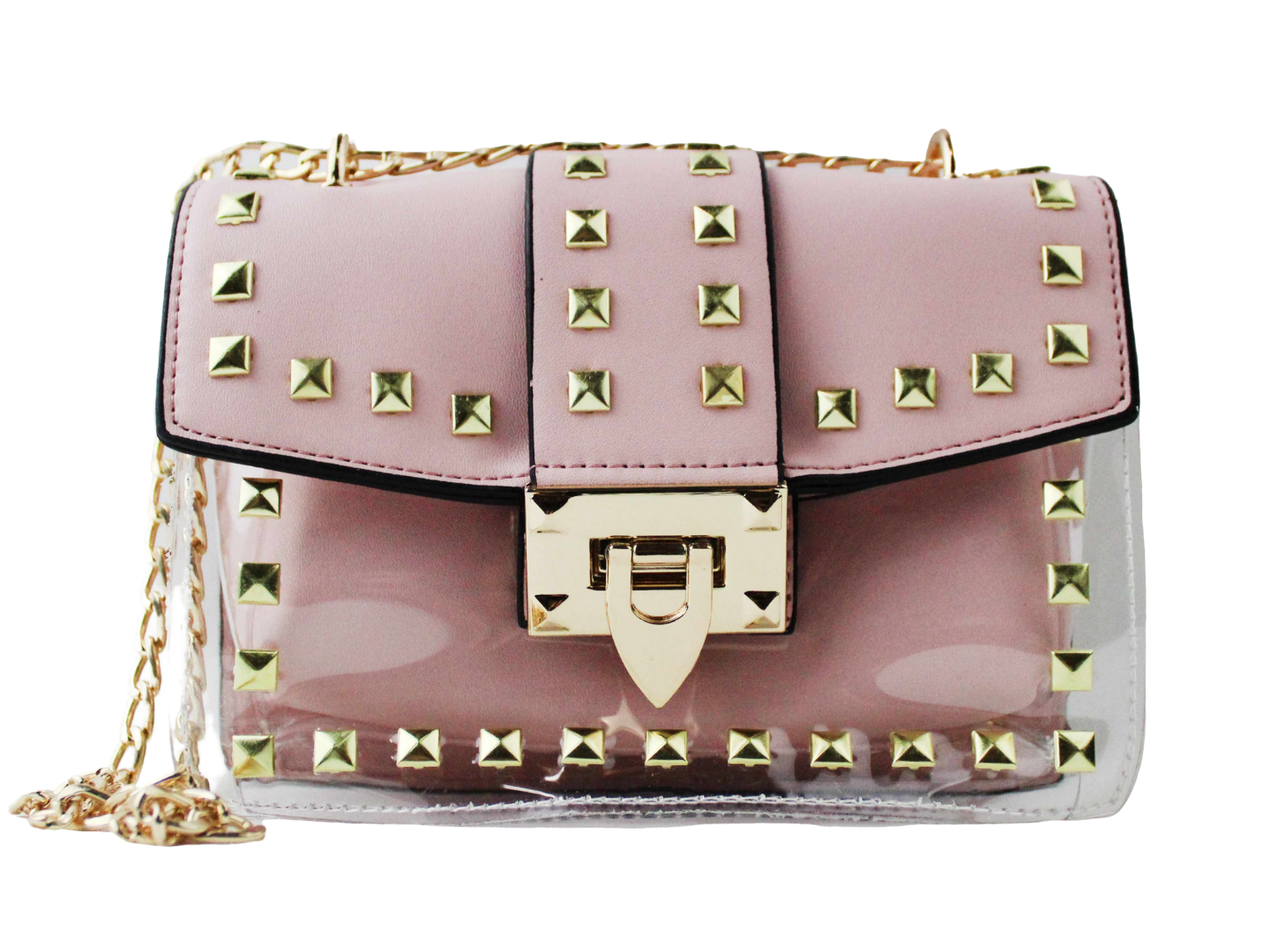 Studded Stadium Bag in Light Pink
