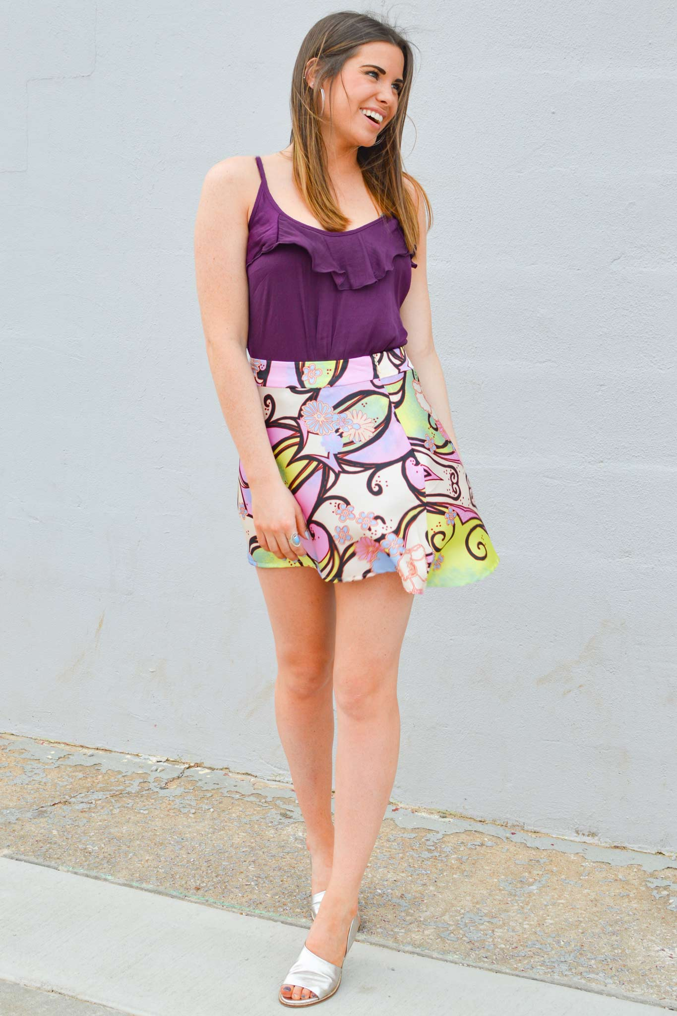 Phoebe Mini Printed Skirt