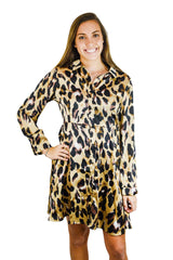 Leopard Button Down Dress