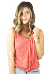Button Down Knot Tank