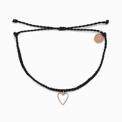 Petite Heart Rose Gold Bracelet by Pura Vida