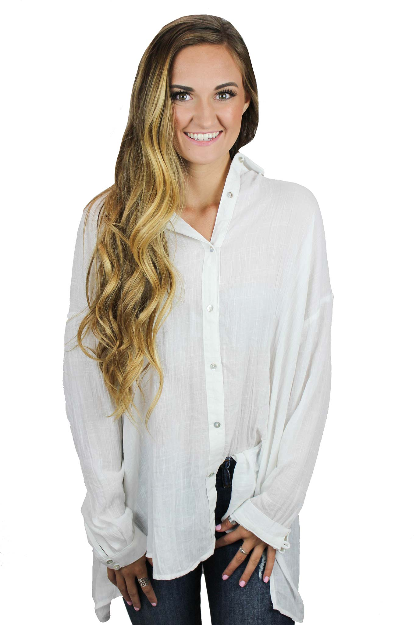 Loose Button Down Top