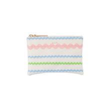 Load image into Gallery viewer, Zig zag purse - green, pink & blue