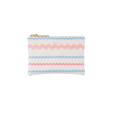 Load image into Gallery viewer, Zig Zag purse - pink & blue