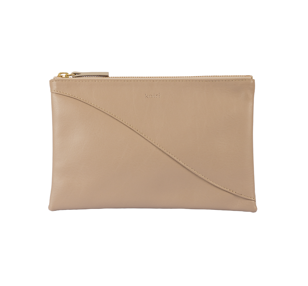 Curve pouch - taupe