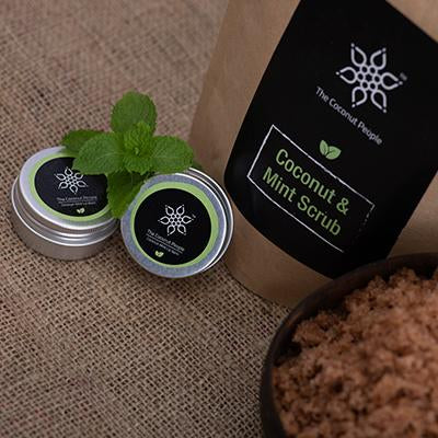 The Coconut People Lip balm + Scrub || Mint is love