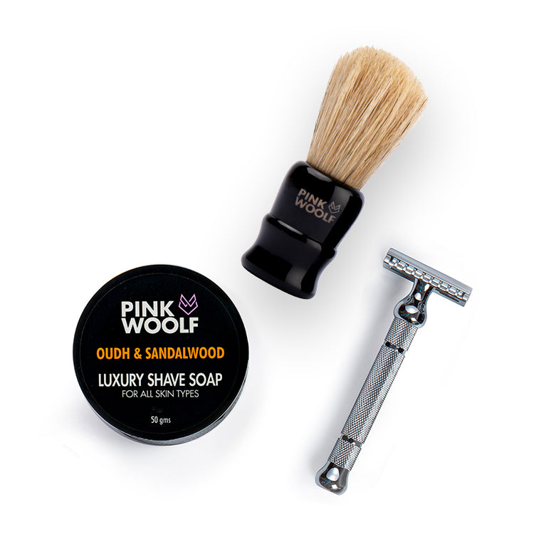 Pink Woolf Luxury Close Shave Combo