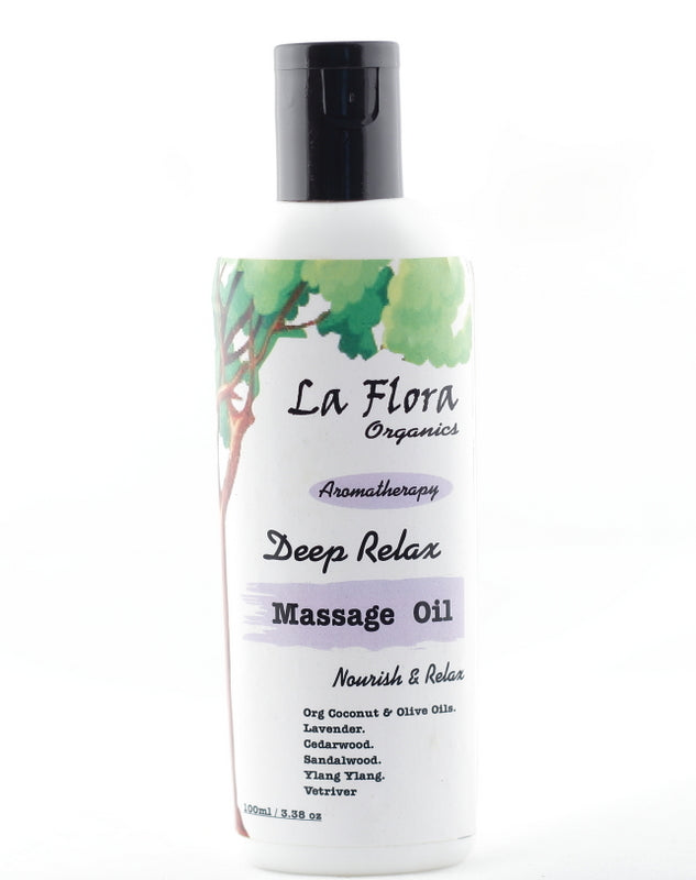 "La Flora Organics ""Deep Relax""- Aromatherapy Relaxing Body Massage Oil-100ml"