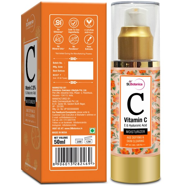 Vitamin C, E & Hyaluronic Acid Age Defying & Skin Clearing Moisturizer With SPF 30, 50ml