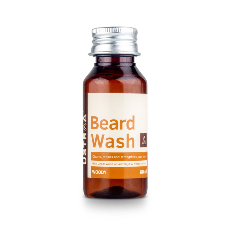 Ustraa Beard Wash Woody - 60 ml