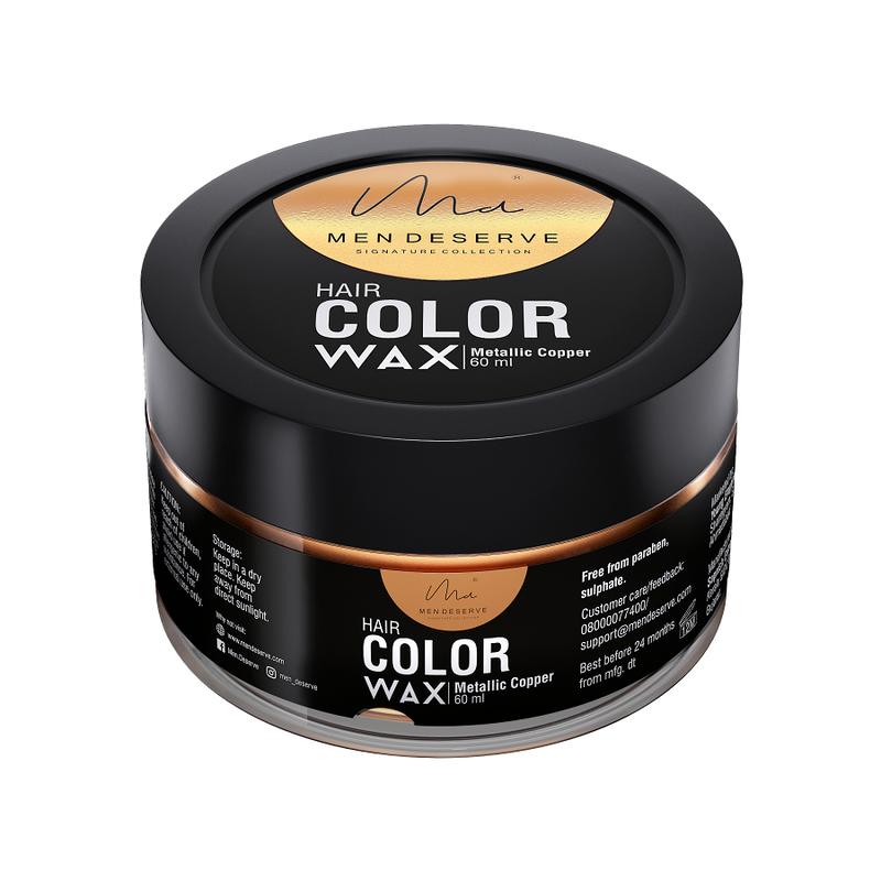 Men Deserve Hair Color Wax - Metallic Copper