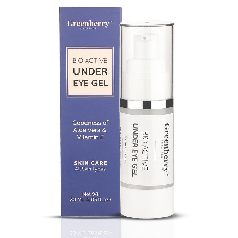 Greenberry Organics Bio Active Under Eye Gel for Under Eye Dark Circles & Puffiness