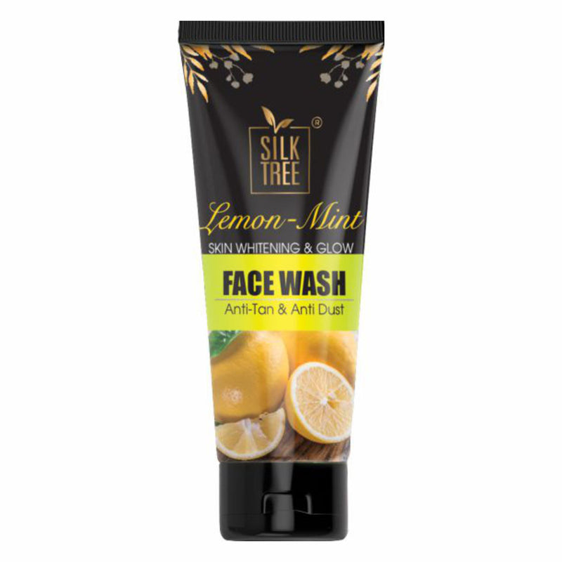 SilkTree Lemon & Mint Skin Whitening Anti-Tan Face Wash