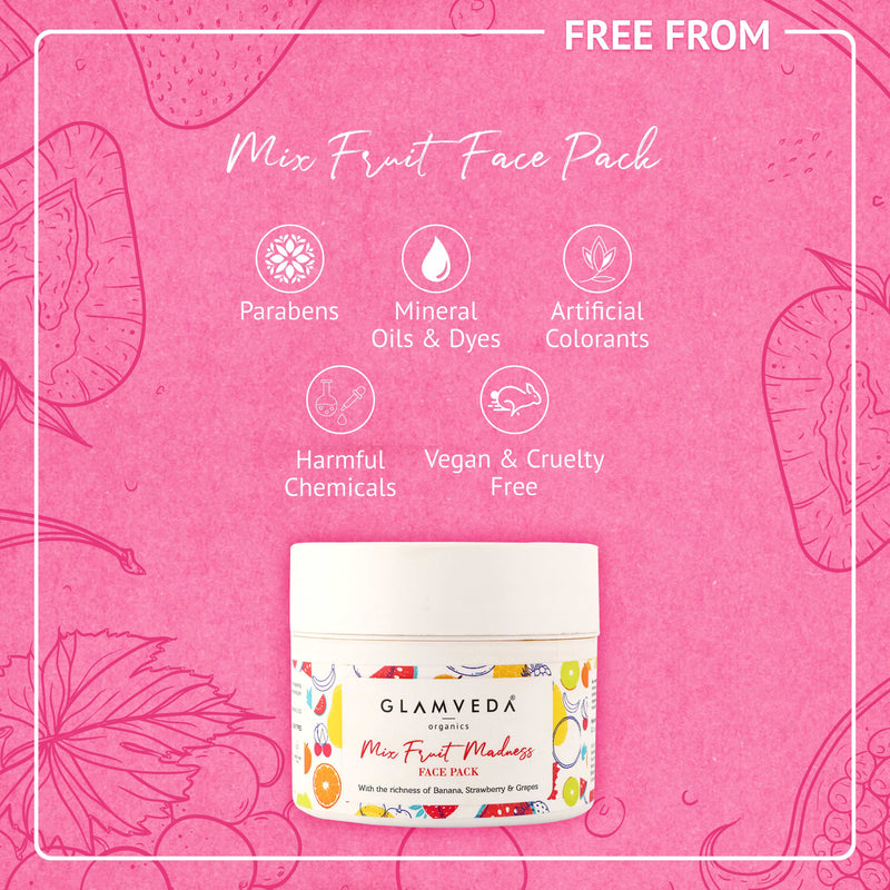 GLAMVEDA Mix Fruit Tan Removal Face Pack | 250 gm