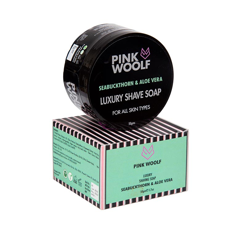 Pink Woolf Luxury Shaving Soap – Seabuckthorn & Aloe Vera