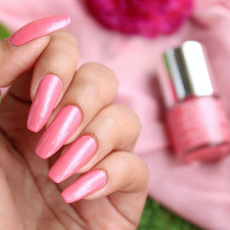 debelle miss bliss - best pink nail polish for women india