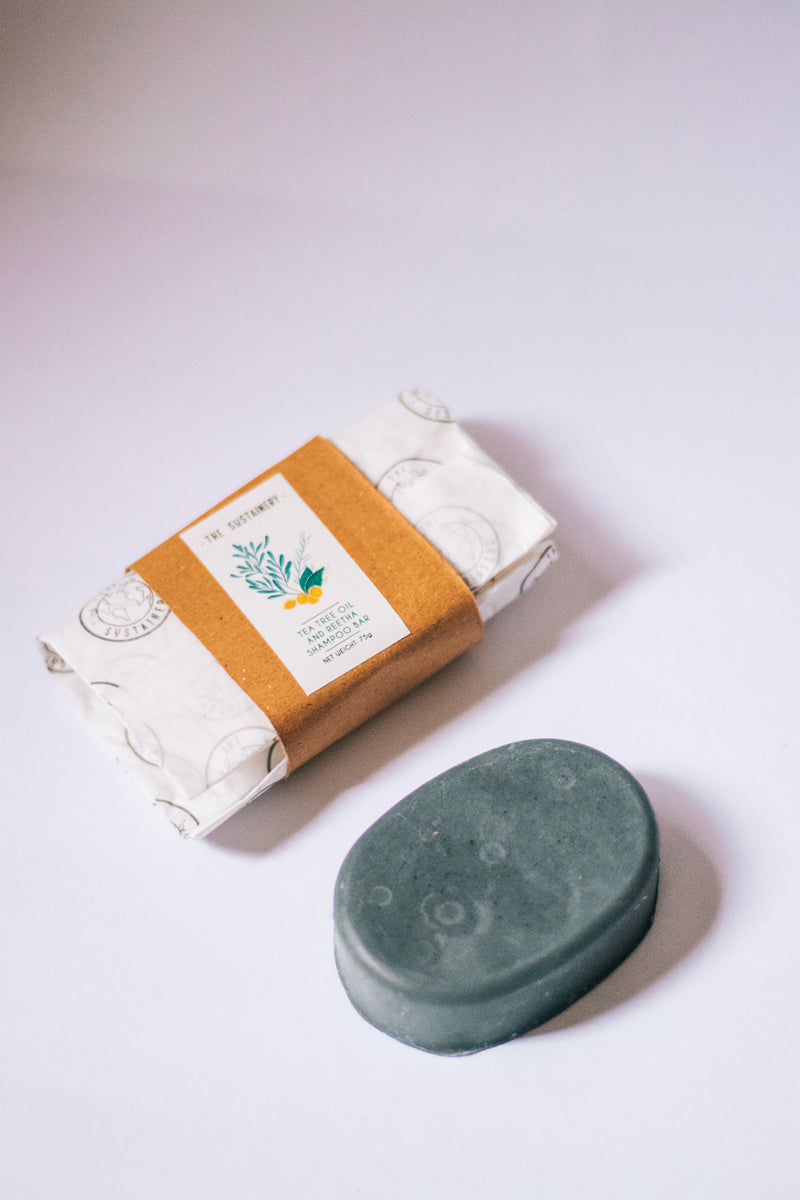 The Sustainery Tea Tree Oil and Reetha Shampoo Bar
