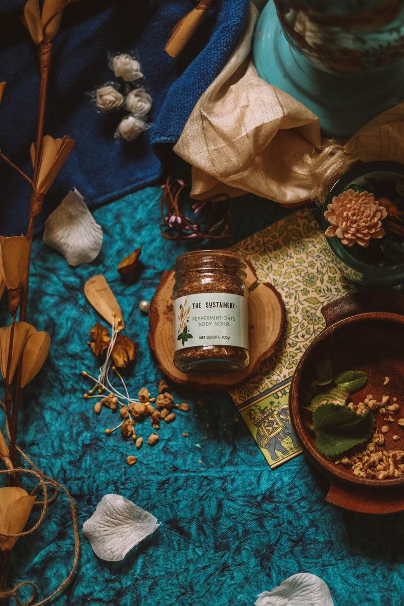 The Sustainery Peppermint Oats Body Scrub