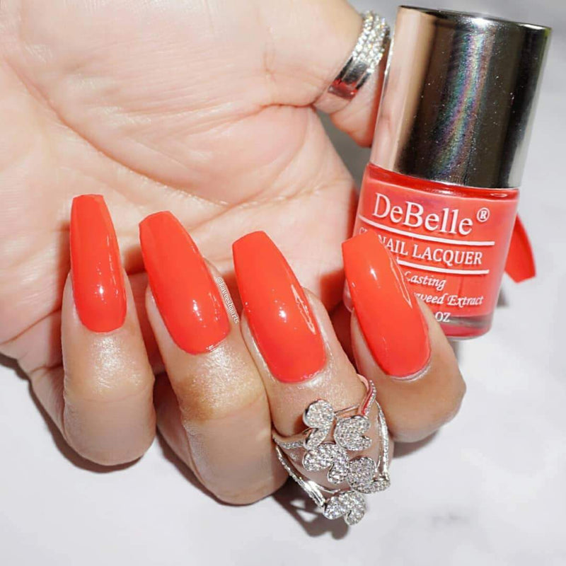 DeBelle Gel Nail Lacquer Princess Belle - Orange Red
