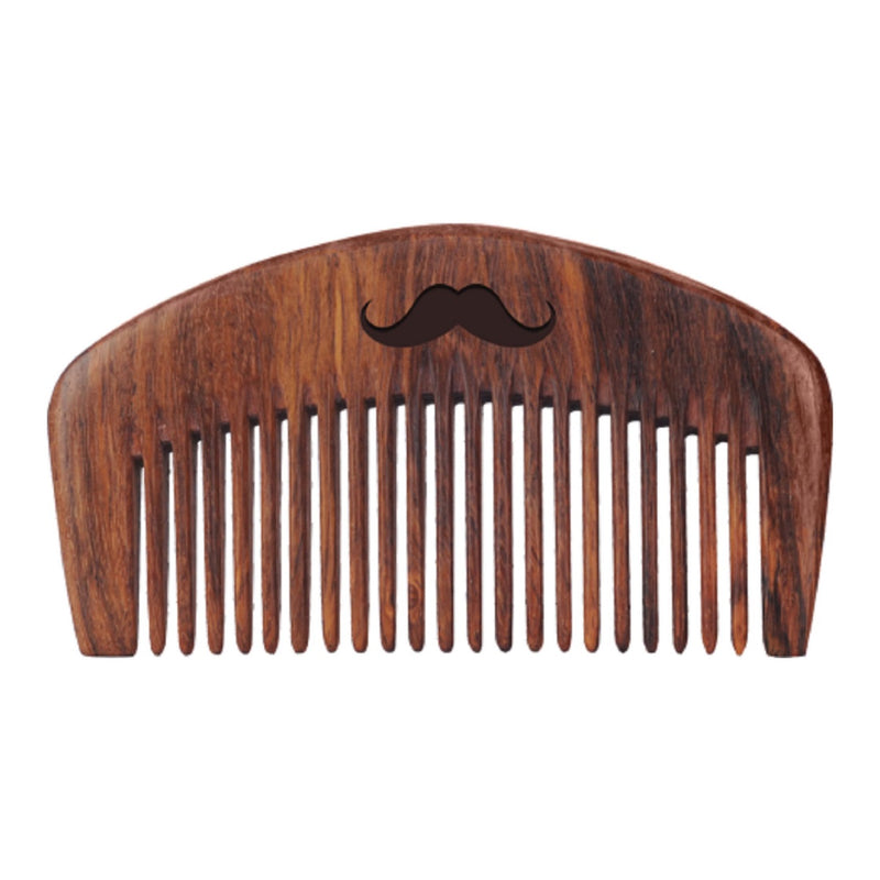 Men Deserve Combo of Advanced Beard Growth Oil and Sheesham Wooden Beard Comb