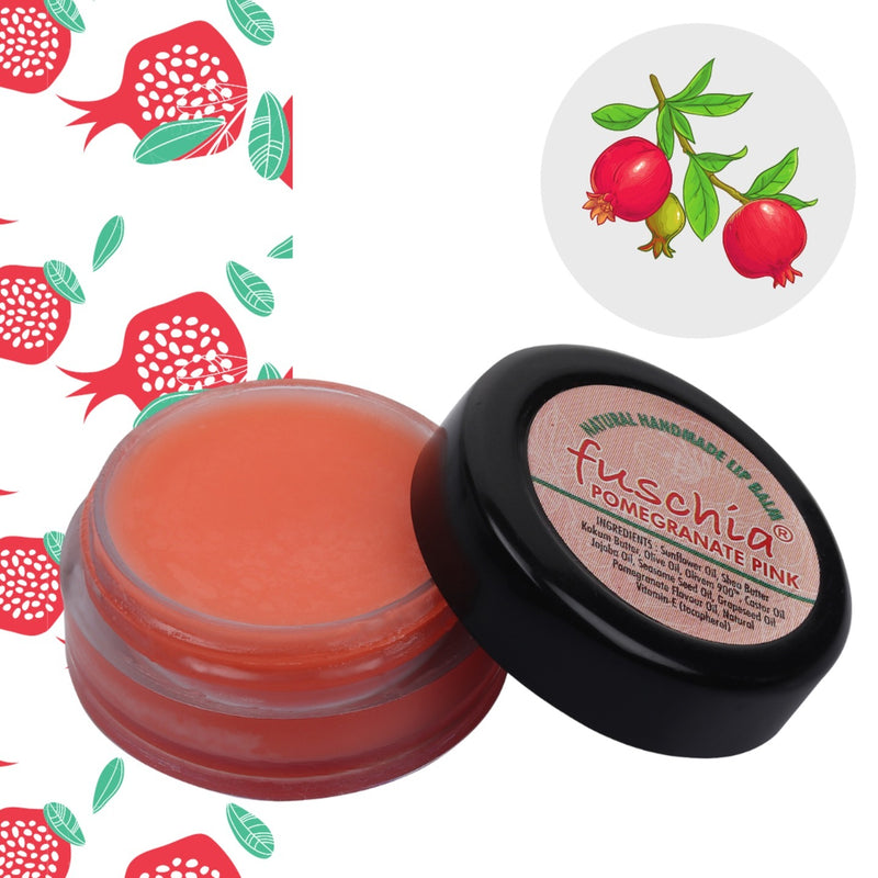 Fuschia  Pomegranate Pink Lip Balm