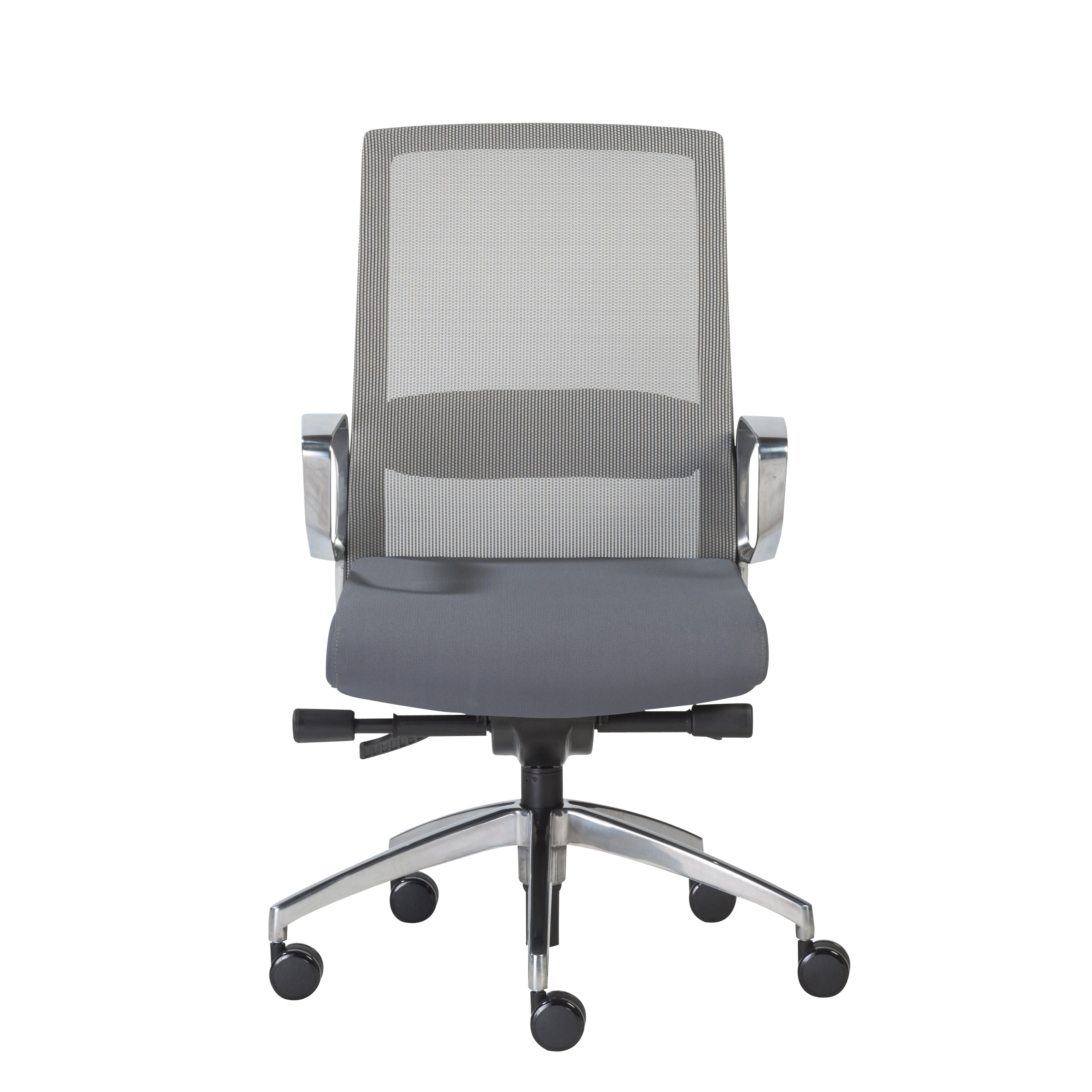 Classic Rolling Gray Mesh Office Chair