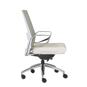 Classic Rolling White Mesh Office Chair