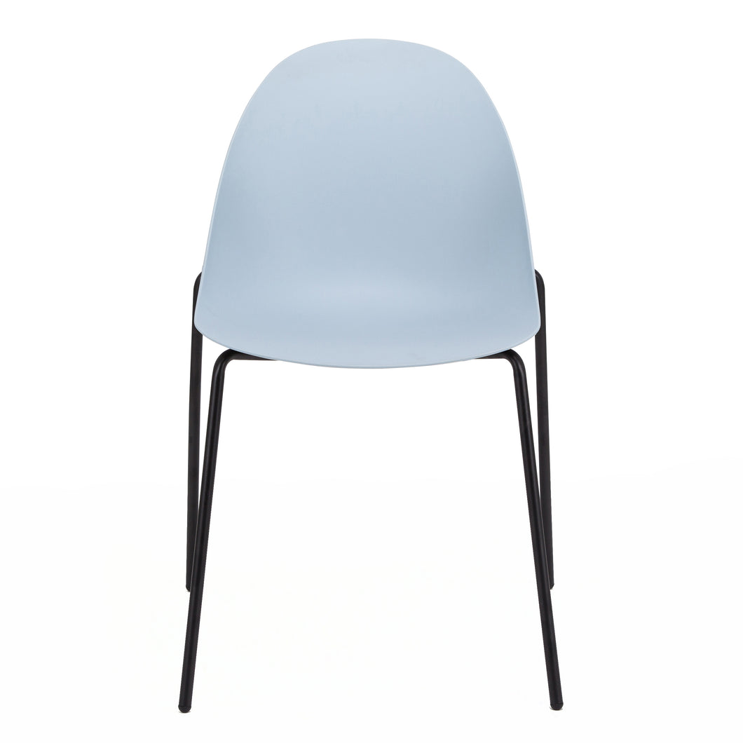 Stackable Guest or Conference Chair in Blue Finish (Set of 4)