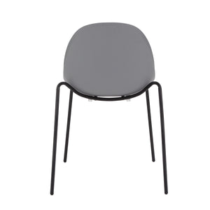 Stackable Guest or Conference Chair in Grey Finish (Set of 4)
