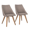 Dark Gray Guest or Conference Chairs w/ Solid Wood Legs (Set of 2)