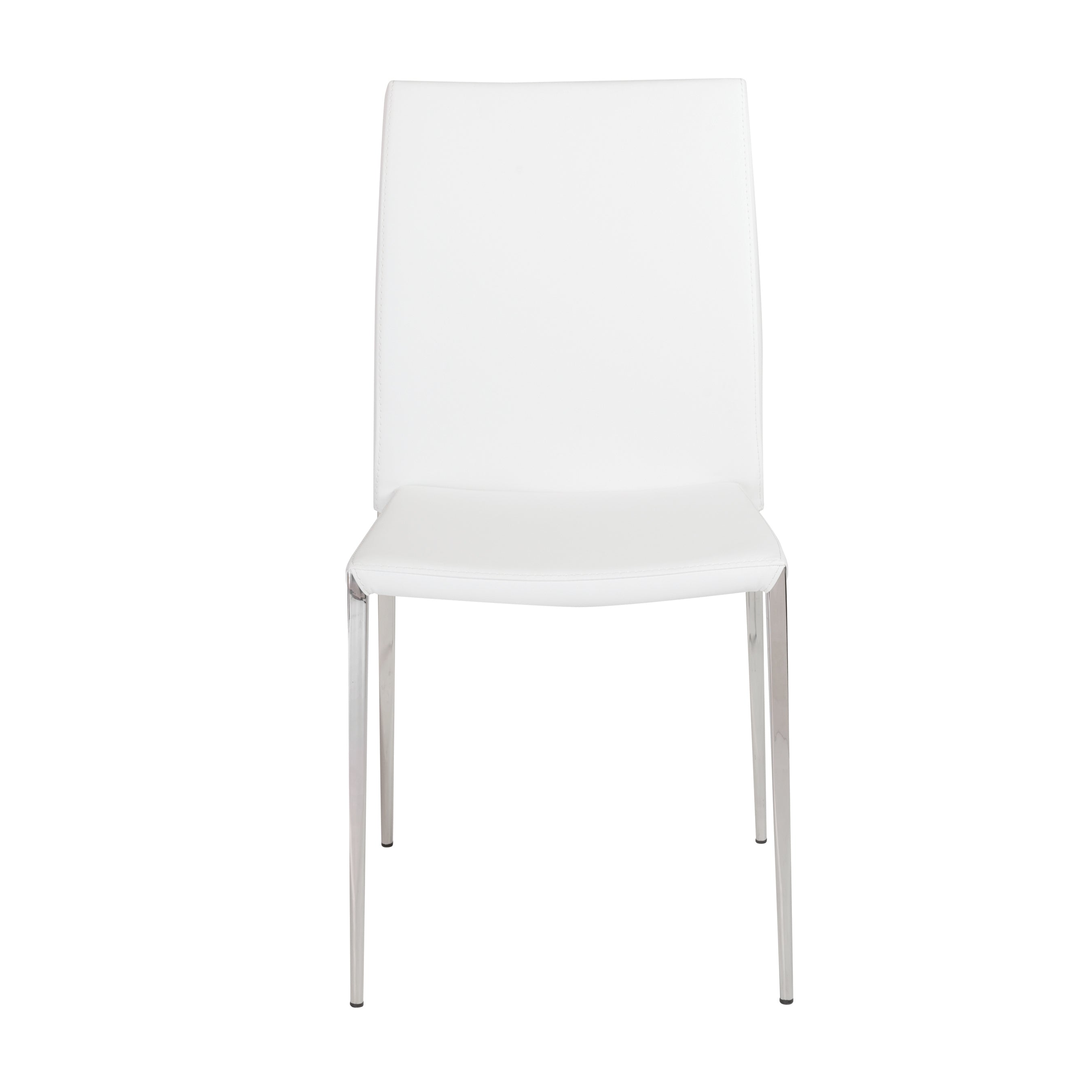 Classic Stackable White Guest or Conference Chair (Set of 4)