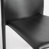 Stylish Guest or Conference Chairs of Black Regenerated Leather (Set of 4)