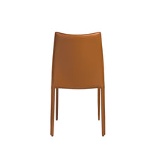 Load image into Gallery viewer, Stylish Guest or Conference Chairs of Cognac Regenerated Leather (Set of 4)