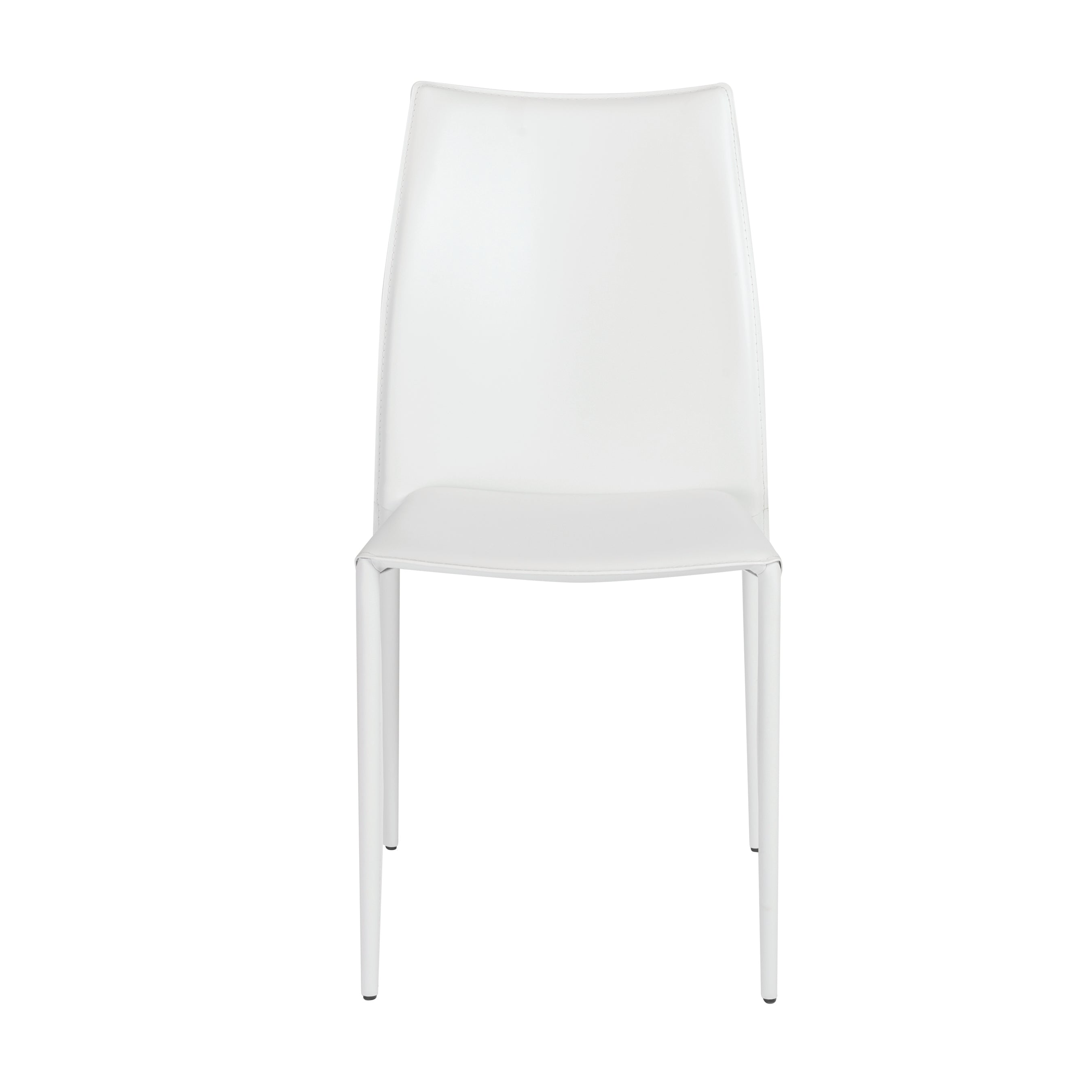 Stylish Guest or Conference Chairs of White Regenerated Leather (Set of 4)