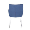 Blue Fabric and Stainless Steel Guest or Conference Chair