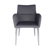 Gray Fabric and Stainless Steel Guest or Conference Chair