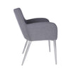 Classic Padded Dark Gray Guest or Conference Chair (Set of 2)