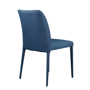 Set of Two Blue Polyester Guest / Conference Chairs