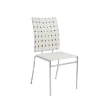 Load image into Gallery viewer, White Woven Leather Guest or Conference Chair (Set of 4)