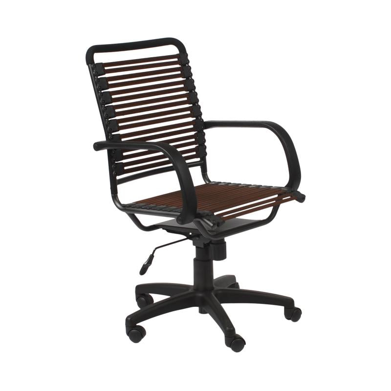 Bungee Comfortable Modern Chair with Brown Supports