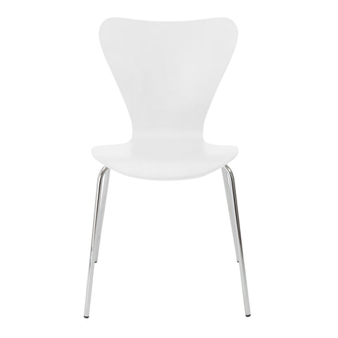 Stylish Conference or Guest Chair with White Finish (Set of 4)