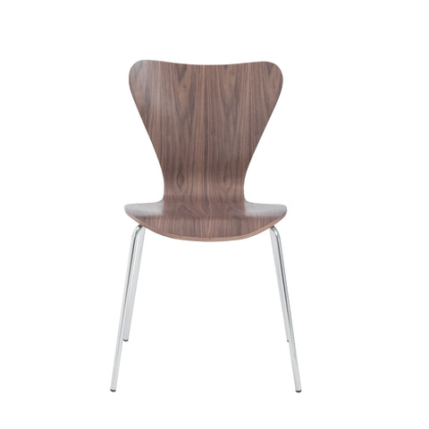 Stylish Conference or Guest Chair with Walnut Finish (Set of 4)