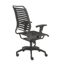 Load image into Gallery viewer, Black Bungee Banded High Back Office Chair in Modern Style