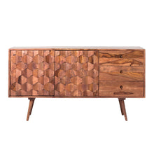 "Load image into Gallery viewer, 55"" Unique Patterned Sheesham Wood Credenza"