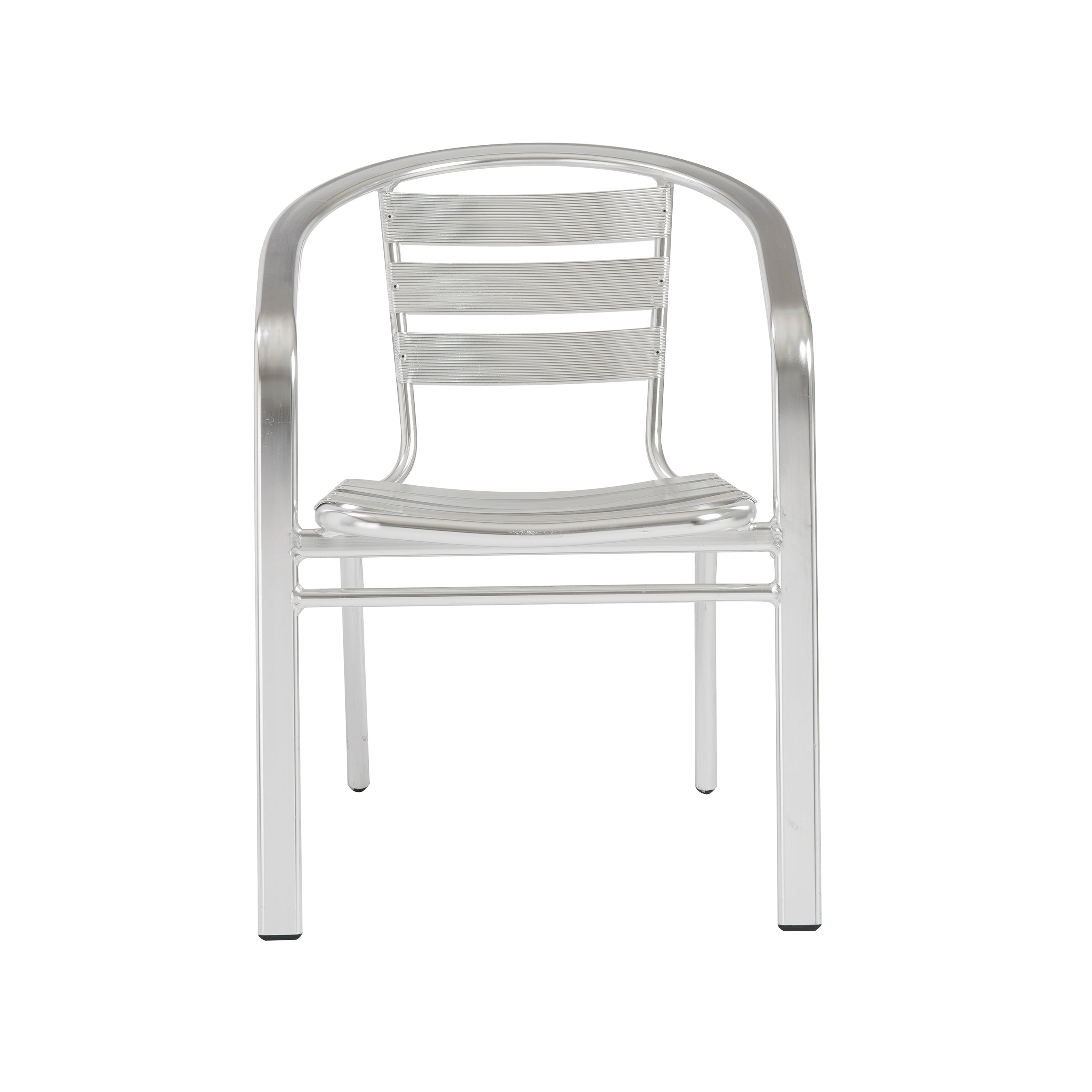 Polished Aluminum Guest or Conference Chairs w/ Casual Feel (Set of 6)