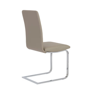 Great Taupe Guest or Conference Chair (Set of 2)