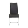Black Leatherette Guest or Conference Chair w/ Extra Height (Set of 4)