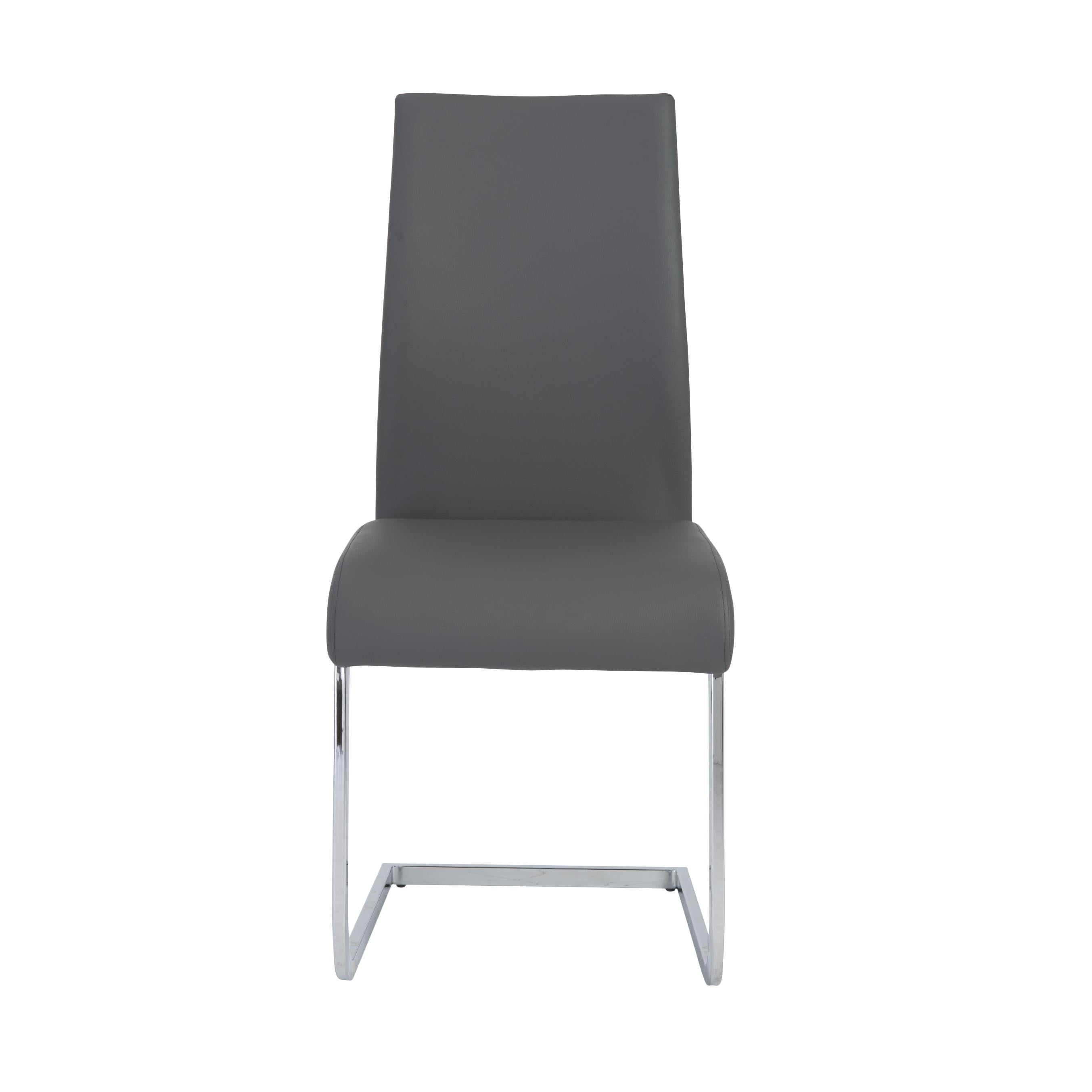 Gray Leatherette Guest or Conference Chair w/ Extra Height (Set of 4)