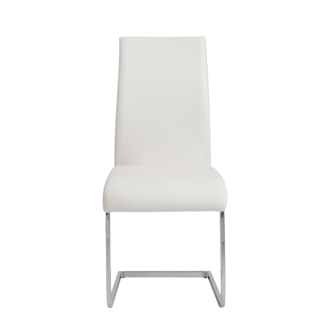 White Leatherette Guest or Conference Chair w/ Extra Height (Set of 4)